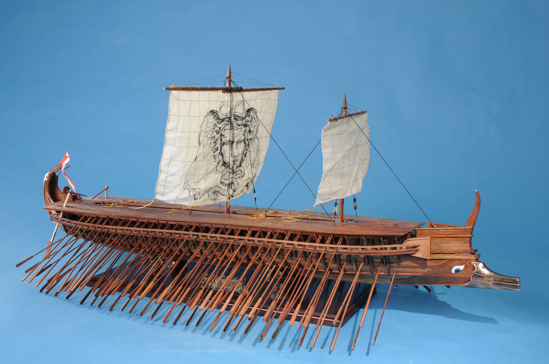 "Greek Trireme 42"" MUSEUM quality wooden ship model 