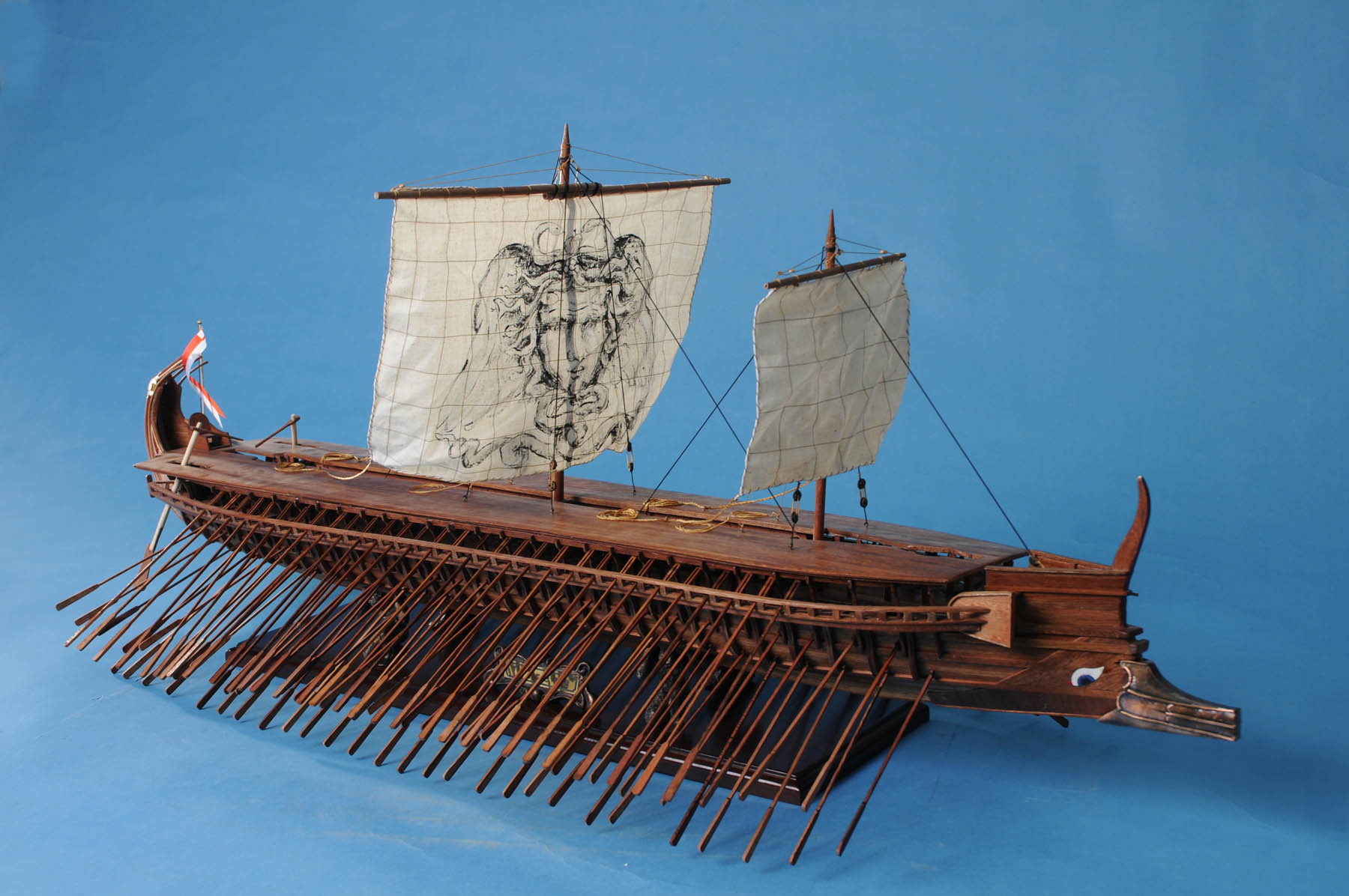 "TRIREME 42"" XL Museum Greek Wooden Model Viking Ship 